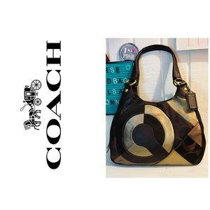 Rare Coach Inlaid Maggie Handbag Patchwork Purse